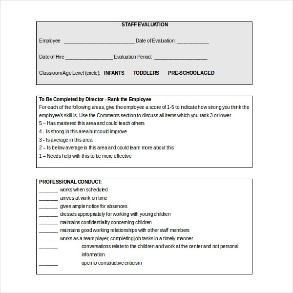 Teacher Evaluation Sample Questions Teacher Evaluation Form Forms Sample  Forms 18 Sample Teacher Evaluation Forms Sample