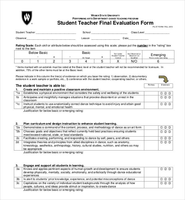 Sample Student Evaluation Form Student Presentation Evaluation - presentation evaluation form in doc
