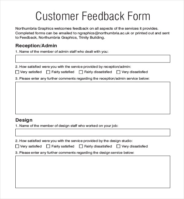 Customer Feedback Form Related Projects Degrees Customer Feedback