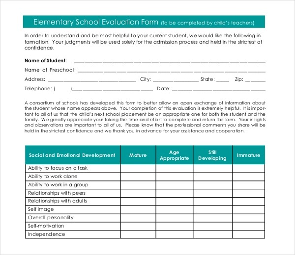 17+ Sample Student Evaluation Forms Sample Forms - group activity evaluation template