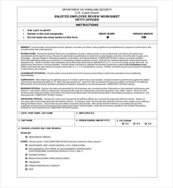 13+ Sample Employee Review Forms Sample Forms