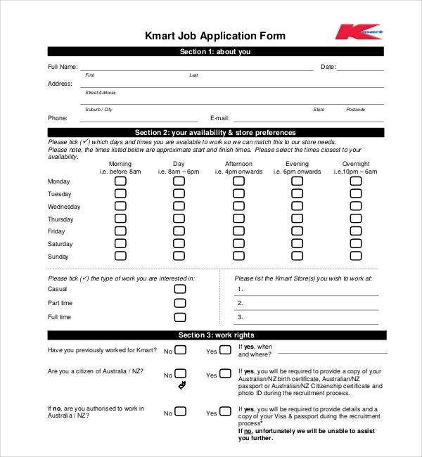 Sample Employment Application Forms - 12+ Free Documents in PDF, Doc - employment application forms