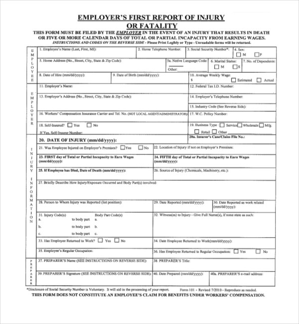 workers compensation exemption form california - Solidgraphikworks - worker compensation form