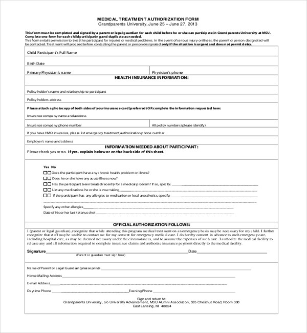 medical consent form for grandparents - Pinephandshakeapp - medical consent form