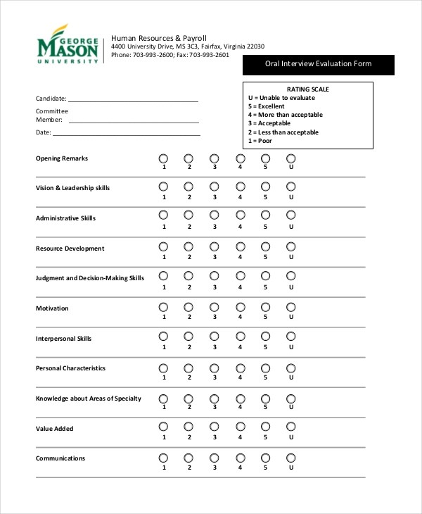 Training Needs Assessment Survey From Hr Survey 12 Interview Feedback Form Samples Free Sample Example
