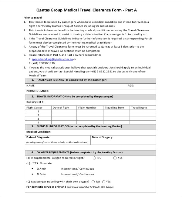 Medical Clearance Form Medical Clearance Form Template Release