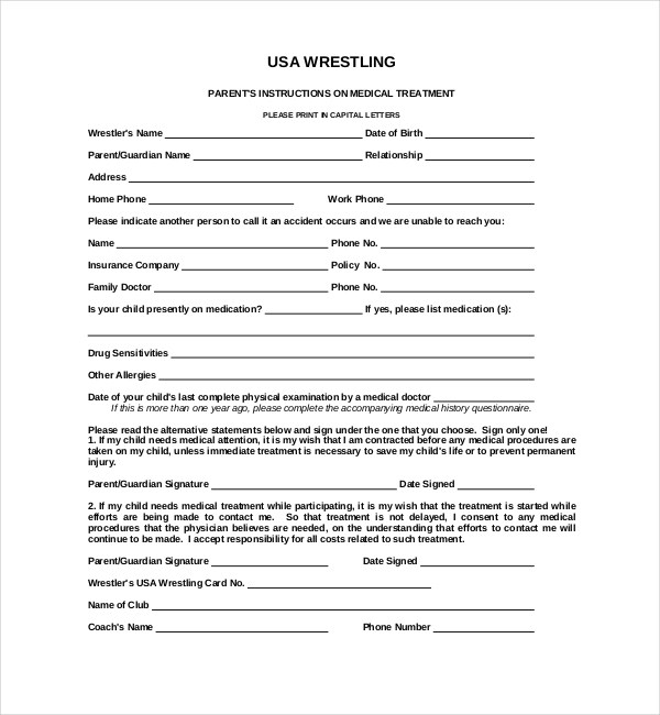 15+ Sample Medical Waiver Forms Sample Forms