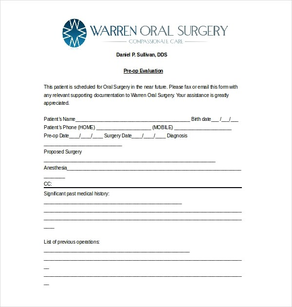 pre op medical clearance form 10 Unexpected Ways Pre Op - medical clearance forms
