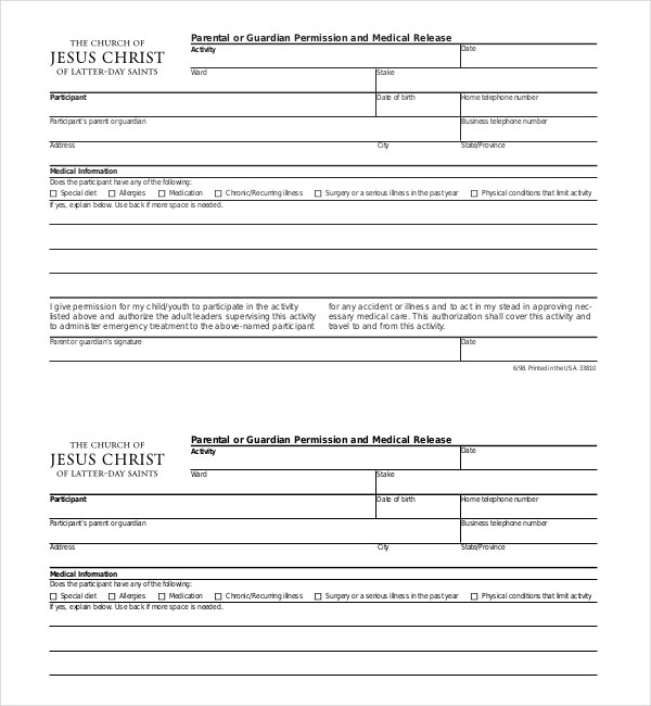 Property Damage Release Form Generic Release Of Liability Form - accident release form