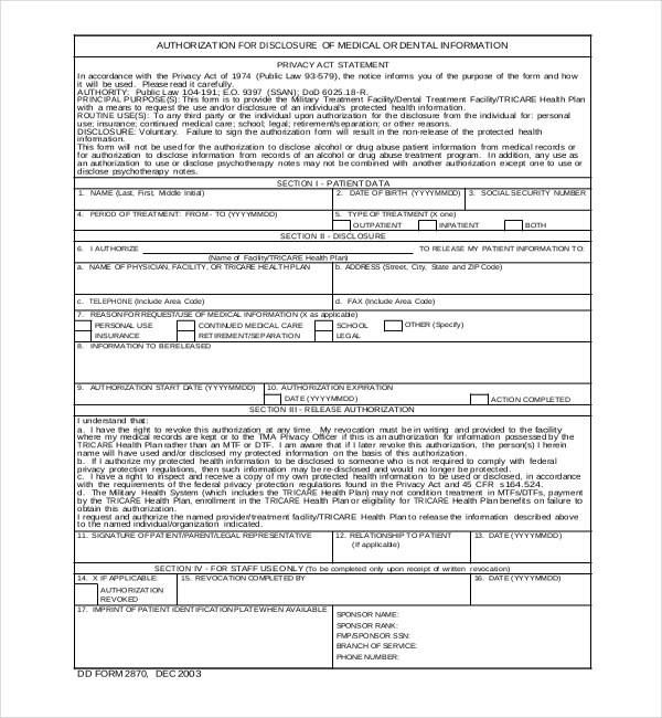 19+ Sample Medical Records Release Forms Sample Forms