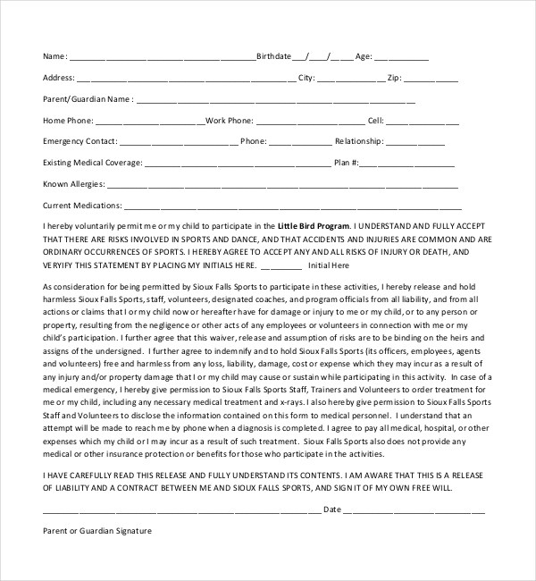 Child Medical Consent Form Medical Consent Form For Child Template