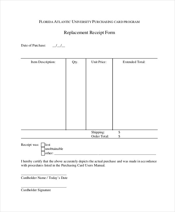 Doc460595 Receipt of Document Form Acknowledged Receipt of – Receipt Document