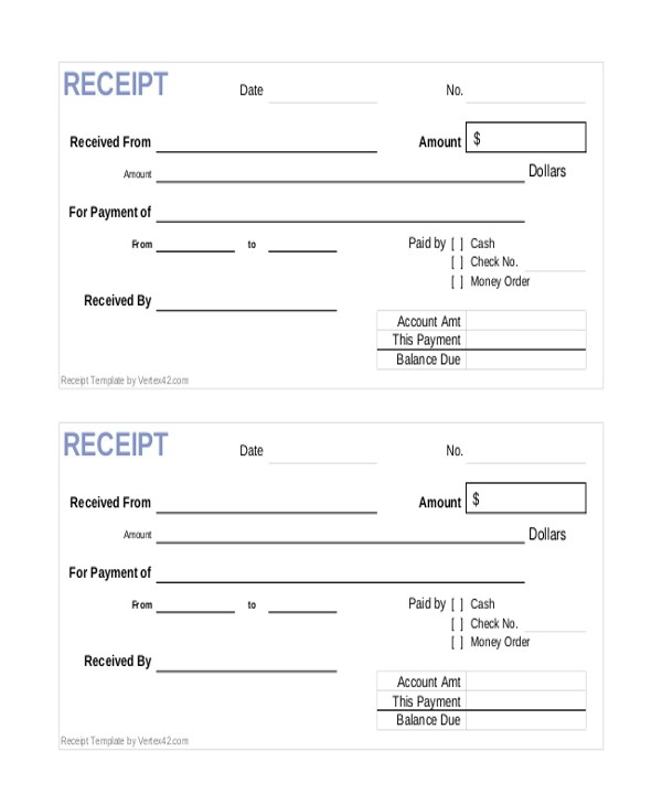 Generic Receipt Template | I0 Wp Com Images Sampleforms Com Wp Content Upload