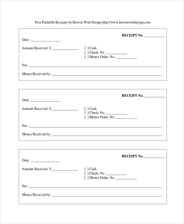 printable receipt forms - Ozilalmanoof
