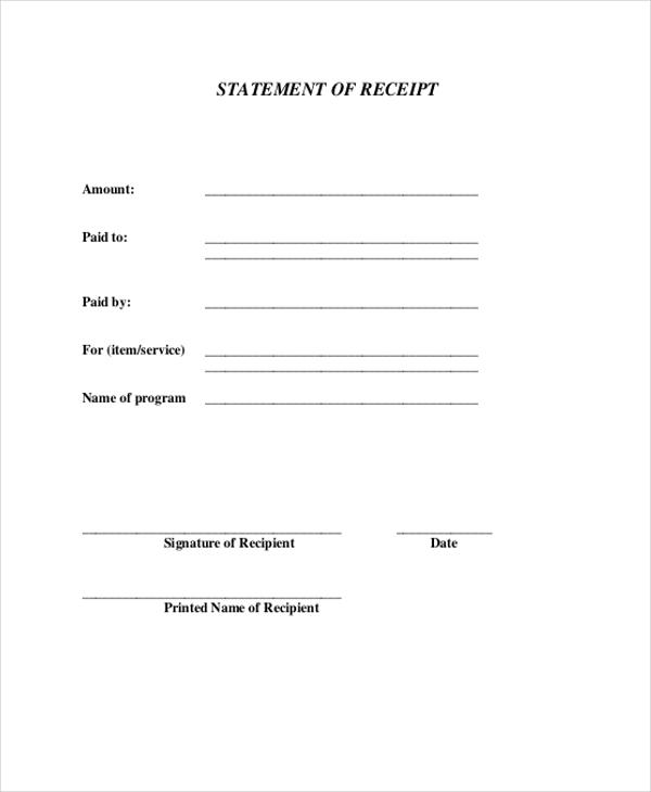 acknowledgement payment receipt template dzeo - pay receipt form