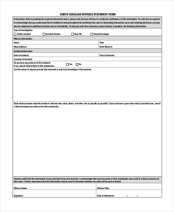 Statement Form In Doc  NodeCvresumePaasproviderCom