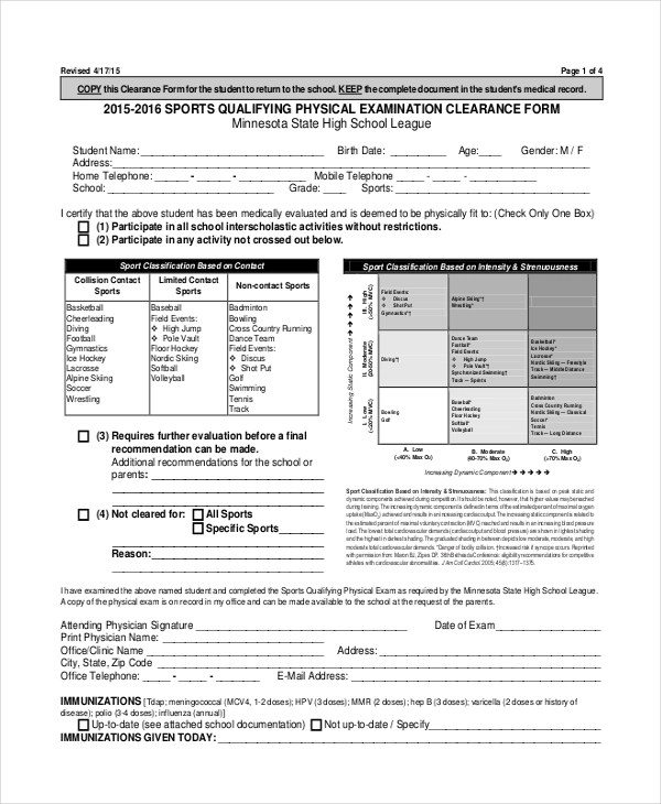 Sample Physical Assessment Forms - 8+ Free Documents in PDF, Word - physical exam form