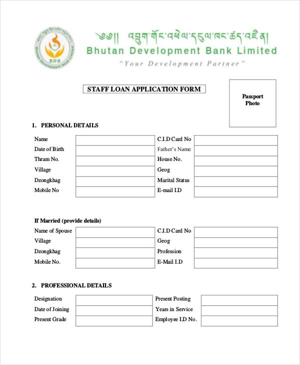 Sample Loan Application Form - 11+ Free Documents in Word, PDF - loan form sample