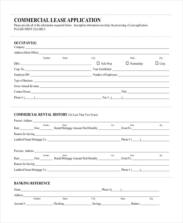Sample Commercial lease form - 9+ Free Documents Download in Word, PDF - commercial lease form