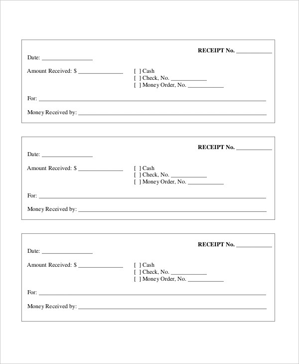Sample Cash Receipt Forms - 7+ Free Documents in PDF, Word - cash receipt