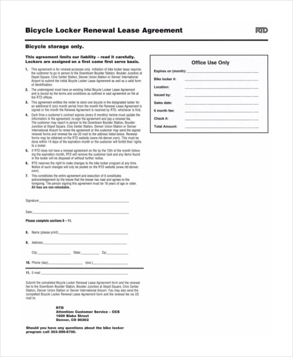 Sample Lease Renewal Forms - 10+ Free Documents in PDF, Doc - lease extension agreement template