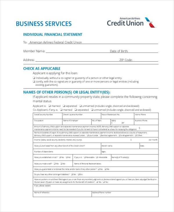 Sample Business Financial Statement Forms - 8+ Free Documents in PDF