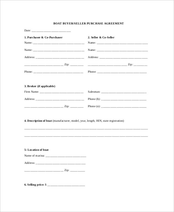Sample Purchase Agreement Forms - 10 Free Documents in PDF, Word - purchase agreement samples