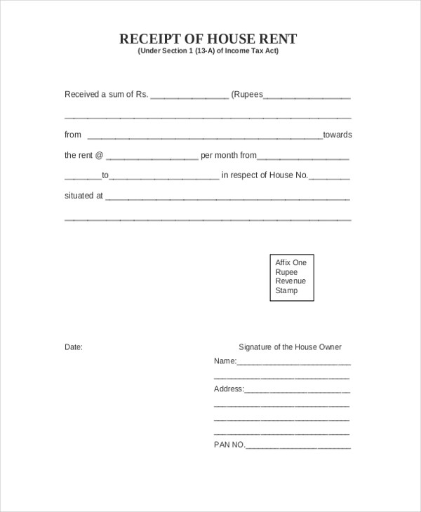 Sample Receipt of Payment Form - 7+ Free Documents in PDF - acknowledgement receipt sample