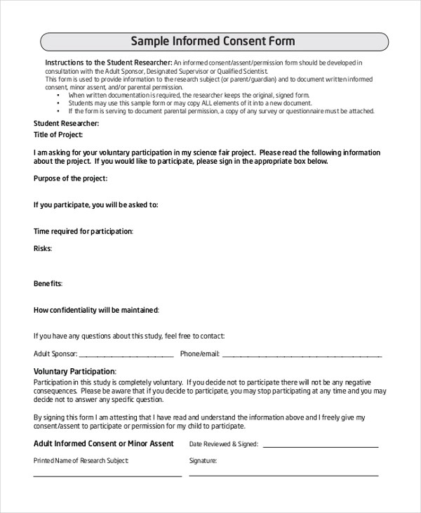 Sample Survey Consent Forms - 8+ Free Documents in PDF, Word - survey consent form