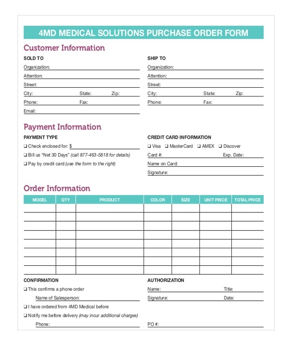 Purchase Order Form Requisition Purchase Order Form You Can - purchase order form free