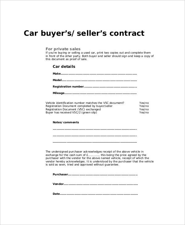 auto purchase agreement form - Boatjeremyeaton
