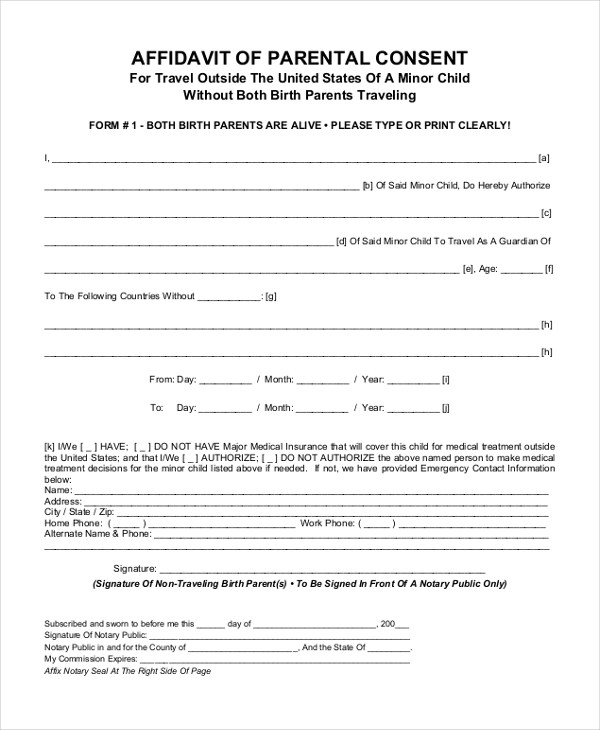Sample Parental Consent Form - 10+ Free Documents in Word, PDF