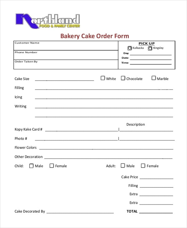 Sample Cupcake Order Form - 10+ Free Documents in PDF - cake order forms
