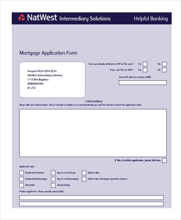 Mortgage Application Form - 10+ Free Documents in PDF, Doc