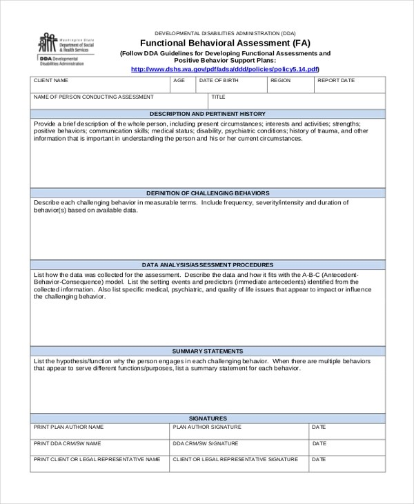 Sample Assessment Forms - 25+ Free Documents in Word, PDF - Assessment Form In Pdf