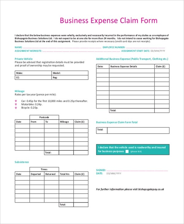 ... Expenses Claim Template   Matchboard   Expense Claim Template ...  Expenses Claim Template