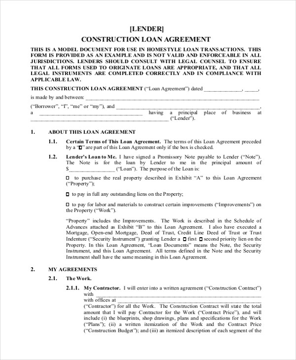 Sample Construction Agreement Forms - 10+ Free Documents in Word, PDF
