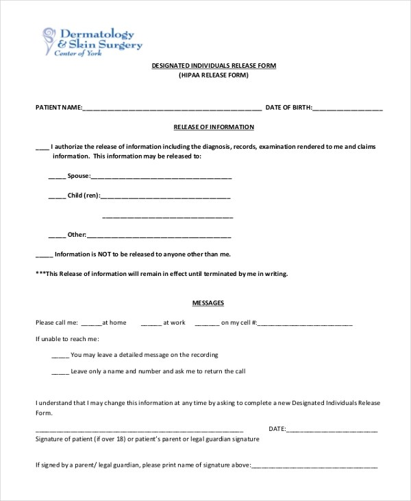 Sample HIPAA Release Form - 10+ Free Documents in PDF - hipaa release form