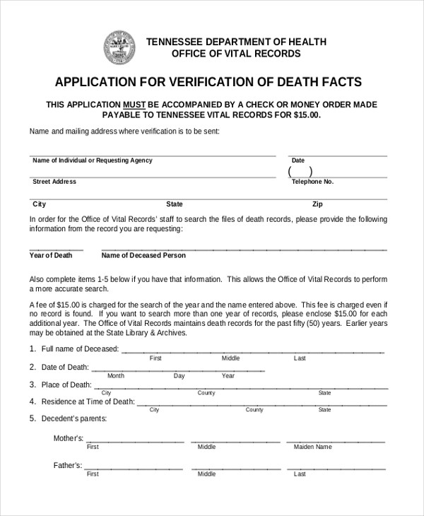 Sample Verification Forms - 21+ Free Documents in PDF - verification form