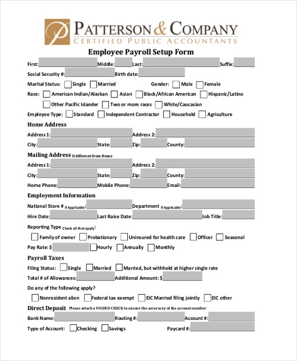 Sample Employee Payroll Forms - 10+ Free Documents in PDF - certified payroll form