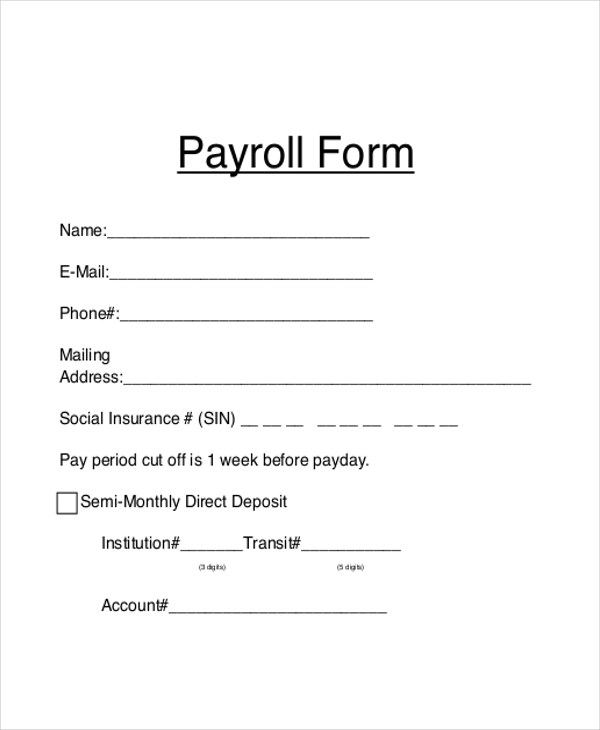 Blank Sle Paycheck Upcomingcarshq ~ Blank Payroll Form - blank payroll form