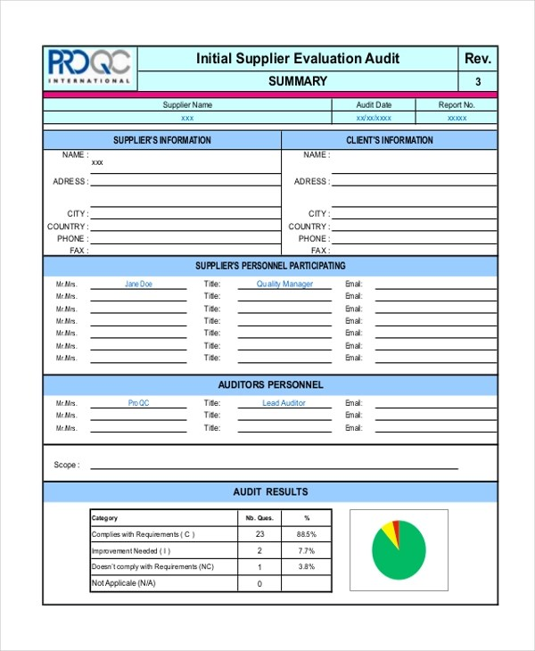 Sample Supplier Evaluation Form - 10+ Free Documents in Word, PDF