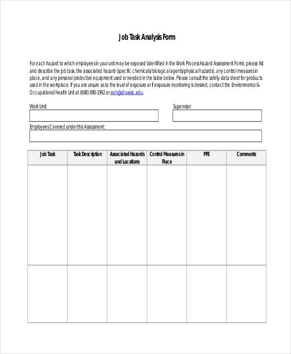 Sample Job Assessment Forms - 9+ Free Documents In Word, PdfJob - evaluation template