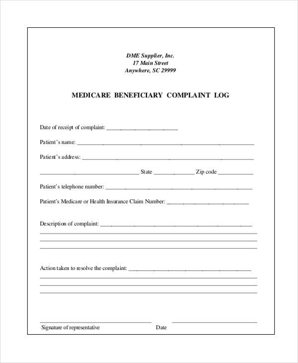 complaint log form - Timiznceptzmusic