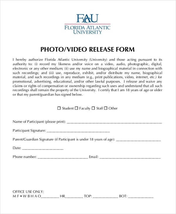 Photo Release Form Sample Hipaa Release Form - 10+ Free Documents - generic photo release form