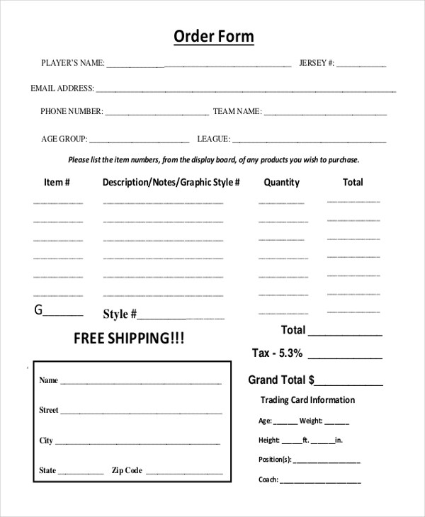 Sample Photography Order Form - 10+ Free Documents in PDF