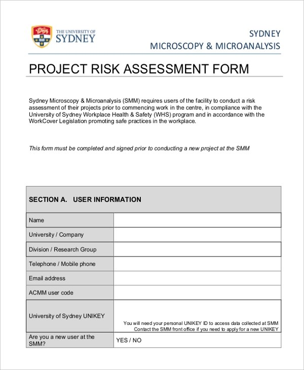 Sample Project Assessment Froms - 10+ Free Documents in Word, PDF