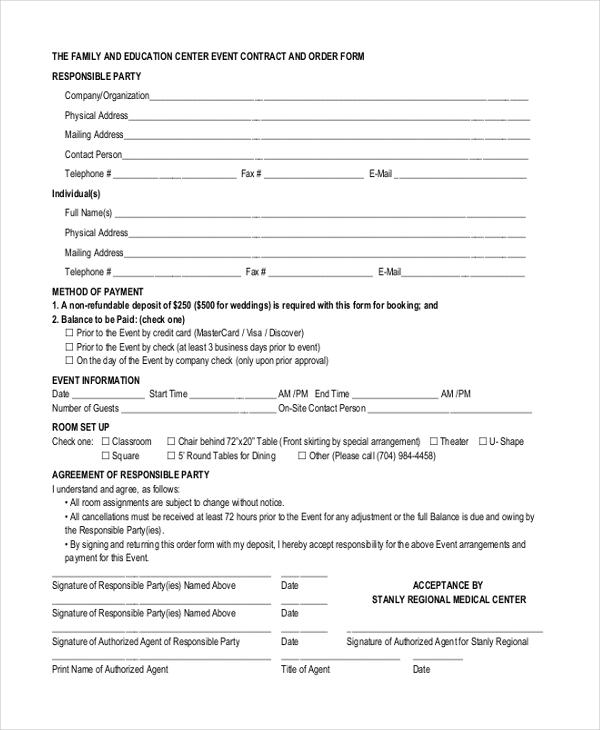 event contracts - Jolivibramusic