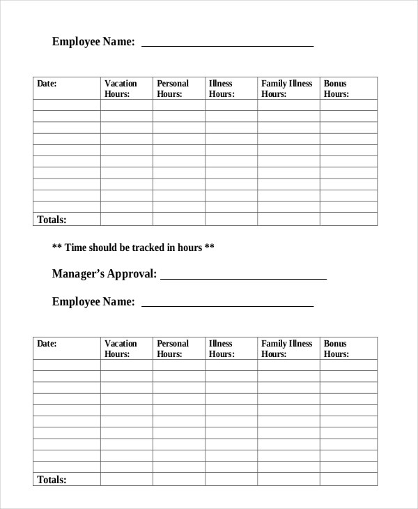 Time Tracking Form - 8+ Free Documents in PDF, Doc