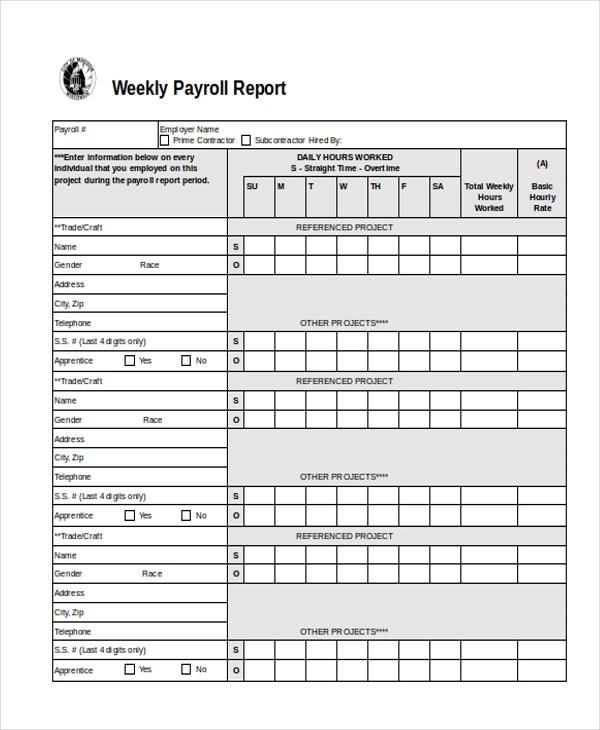 Certified Payroll Forms Pdf - certified payroll form
